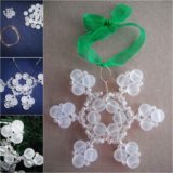 Wonderful DIY Beaded Snow Ornaments