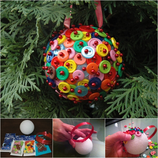 button ornaments WONDERFUL DIY F Wonderful DIY Cute Button Christmas Ornaments