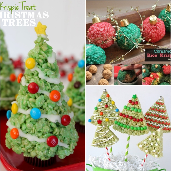 christmas rice krispies treats F 2 Wonderful DIY Christmas Rice Krispies Treats