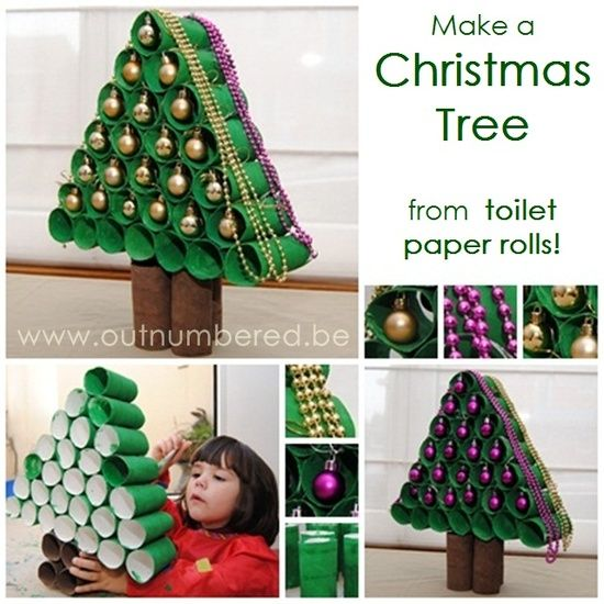 christmas tree from paper roll DIY F Wonderful DIY Paper Roll Christmas Tree and Star Ornaments