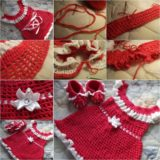 Wonderful DIY Pretty Crochet Dress for Christmas Gift