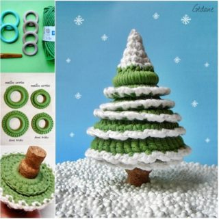 Wonderful DIY Cute Crochet Christmas tree
