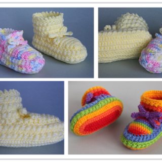 Wonderful DIY Crochet Daisy Stitch Baby Booties with Free Pattern
