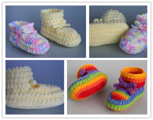 crochet Daisy Stitch Baby Bootees Free Pattern Wonderful DIY Crochet Daisy Stitch Baby Booties with Free Pattern