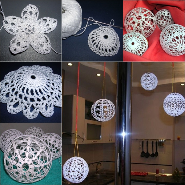 crochet ball ornaments wonderful DIY2 Wonderful DIY Crochet Ball Ornaments