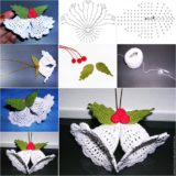 Wonderful DIY Cute Crochet Bell Ornaments