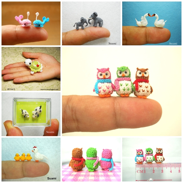 crochet delicate miniature animal F Wonderful DIY Cute Crochet Mini Hello Kitty