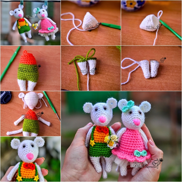 crochet mice free pattern F