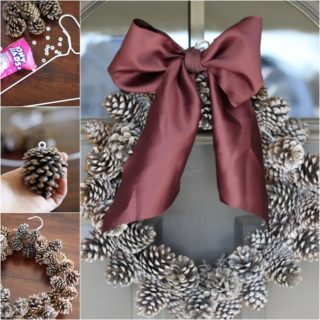 Wonderful DIY Super Easy Budget Pine Cone Wreath