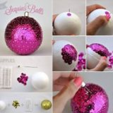 Wonderful DIY Glittery Styrofoam Ball Ornaments for Christmas