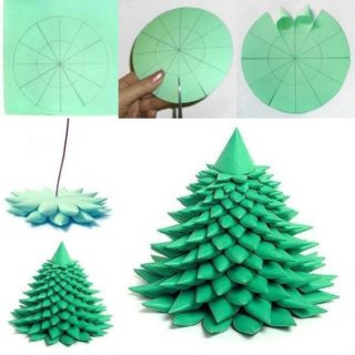 3d Paper Christmas Tree Template.Wonderful Kids Crafts Diy Felt Christmas Tree