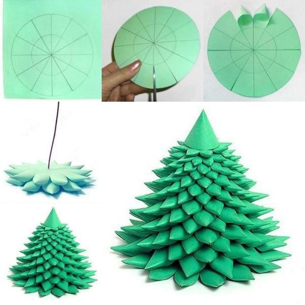 green paper Christmas tree DIY F Wonderful DIY Unique Paper Christmas tree