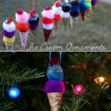 Wonderful DIY Easy Pom Pom Ice Cream Ornaments