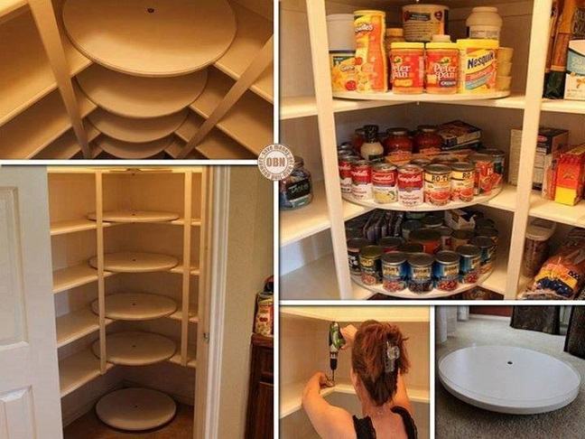 lazy susan disks in pantry DIY F  Wonderful DIY Amazing Lazy Susan Pantry