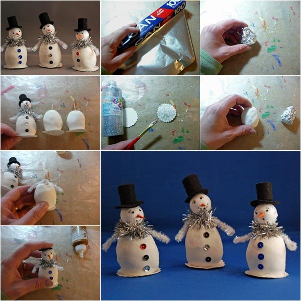 little snowman wonderful diy F Wonderful DIY Cute Little Snowman