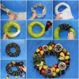 Wonderful DIY Beautiful Christmas Wreath  from Newspaper