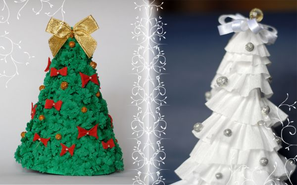 paper Christmas tree-wonderuful DIY 1