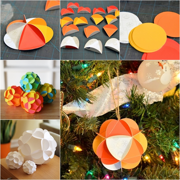 paper ball ornaments DIY F2 Wonderful DIY Pretty 3D Paper Ball Ornaments