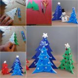 Wonderful DIY Easy Cardstock Christmas Tree