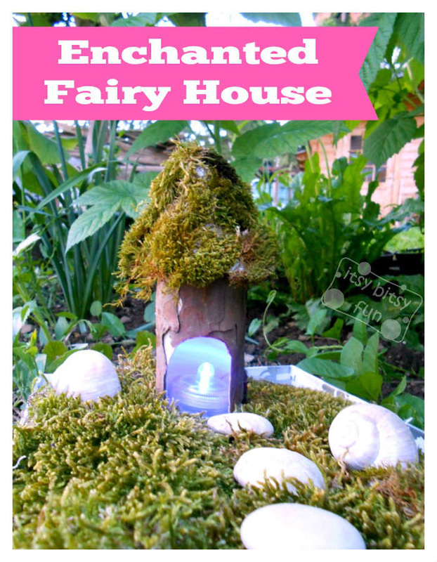 paper roll fairy house