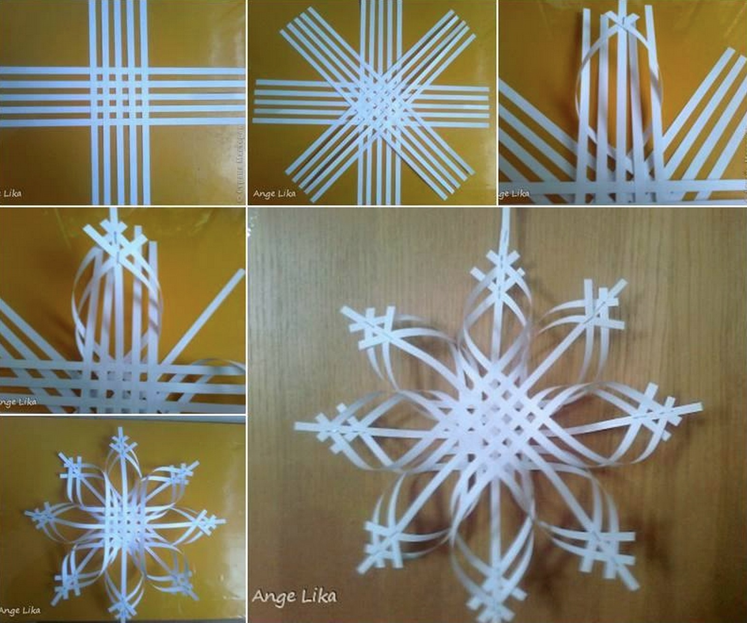 Home Decoration: Wonderful DIY Colorful Woven Star Snowflake