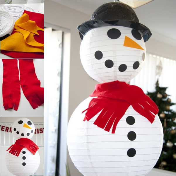 Wonderful diy easy paper lantern snowman solutioingenieria Gallery