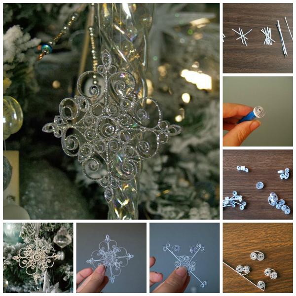 quilled snowflake DIY tutorial Wonderful DIY Shiny Quilled Snowflake
