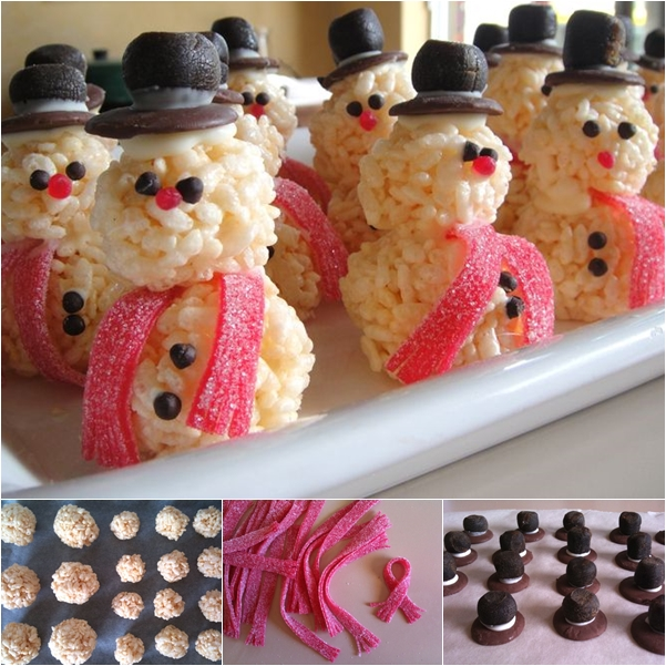 rice krispie snowman DIY F Wonderful DIY Rice Krispie Snowman Treats