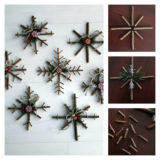 Wonderful DIY Rustic Twig Snowflakes