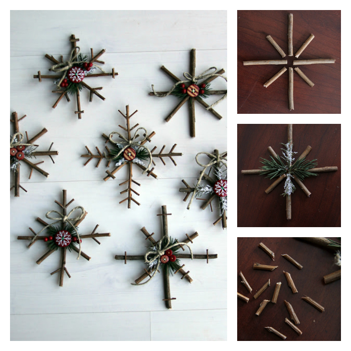 rustic snowflakes craft Wonderful DIY Rustic Twig Snowflakes