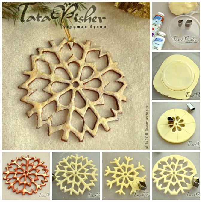 salt dough snowflakes DIY F Wonderful DIY Salt Dough Snowflake Ornaments