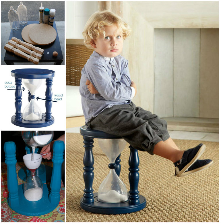 sand filled Time Out Stool DIY F Wonderful DIY Sand  Filled Time Out Stool
