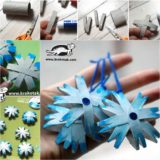 Wonderful DIY Christmas Snowflake Ornaments from Paper Roll