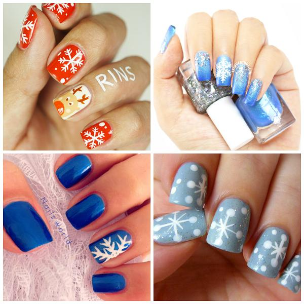 snowflake nail ideas 36 Wonderful  Christmas nail  art Designs