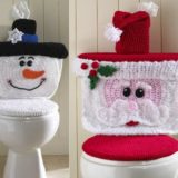 Wonderful DIY Cute Crochet Snowman/Santa Toilet Cover