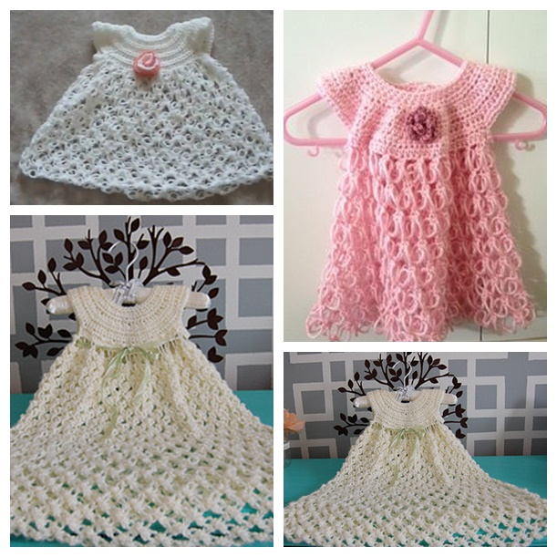 16 Cute Crochet Girls Dresses With Patterns