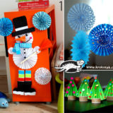 Wonderful DIY 3 simple winter Crafts With folded paper