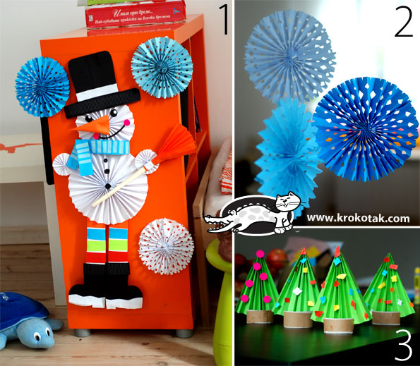 3 winter ideas with folded paper  Wonderful DIY 3 simple winter Crafts With folded paper