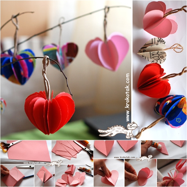 3D paper ornaments-wonderful DIY