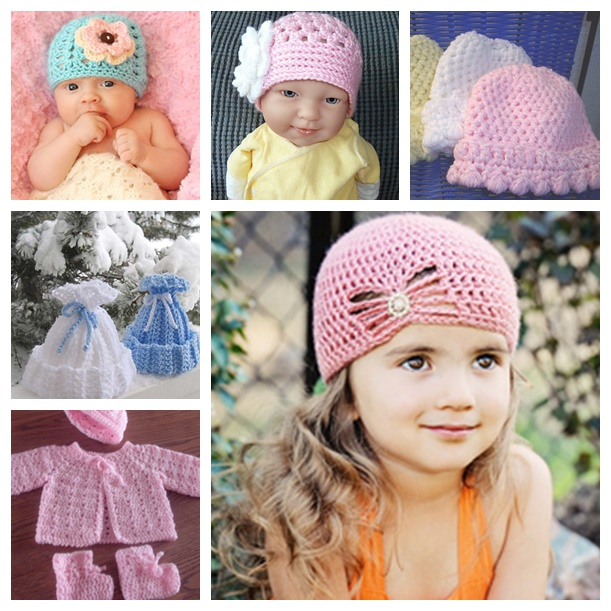 8 Free Crochet Patterns for Baby Beanies 89b9f0a52ff