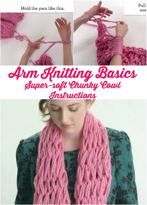Beginner Arm Knitting wonderful diy Wonderful DIY Easy Arm Knitting  for Beginners