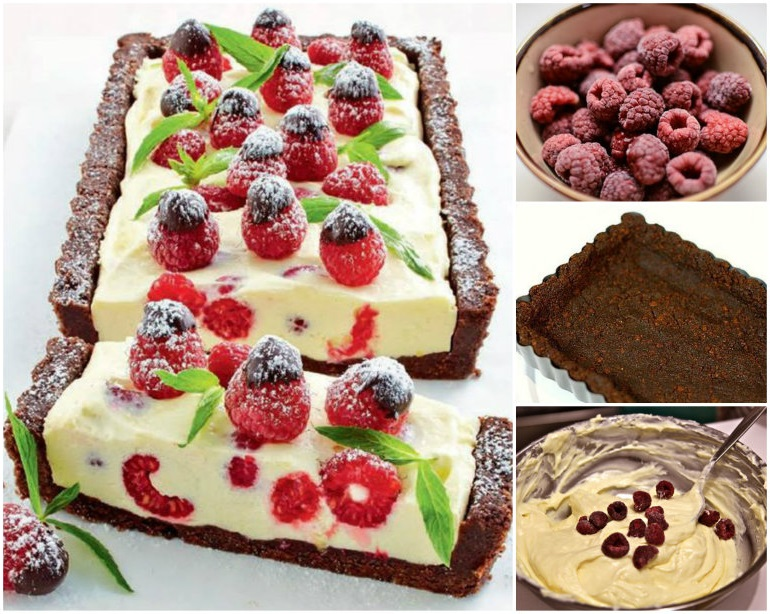 Chocolate and Raspberry Cheesecake WONDERFUL DIY Wonderful DIY No Bake Frozen Strawberry Crunch Cake