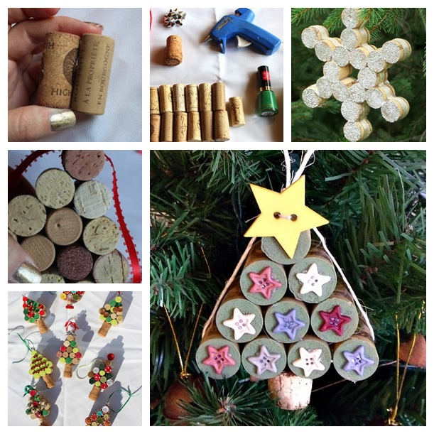 Christmas  ornaments from Wine corks--wonderful DIY F