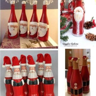 diy crafts wonderful diy cute christmas bottle santa - Christmas Wine Bottle Decorations