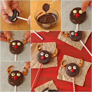 Wonderful DIY Cute Reindeer Oreo Cookie Pops