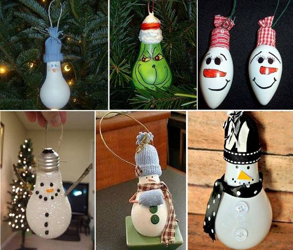 DIY Light Bulb Snowman Wonderful DIY Easy Lightbulb Ornaments