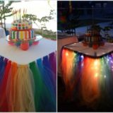 Wonderful DIY Fairy Light Tutu Table Skirt