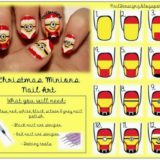 Wonderful DIY Cute Christmas Minion Nail Art