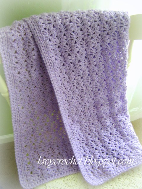 Lacy Stitch for a Baby Blanket wonderfuldiy Super Snuggly Crochet Baby Blanket   Free Pattern and Tutorial
