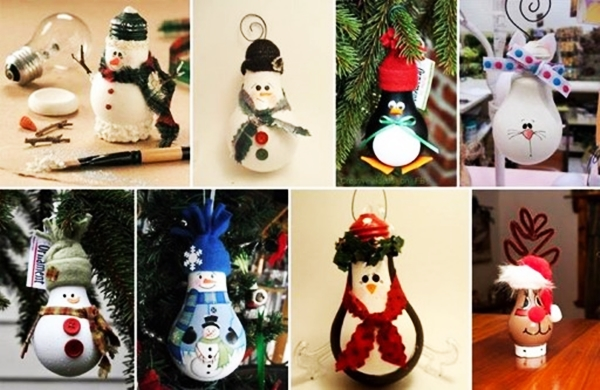 Lightbulb Ornaments wonderfulDIY1 Wonderful DIY Easy Lightbulb Ornaments